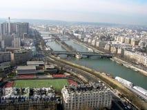 As pontes de Seine Fotos de Stock