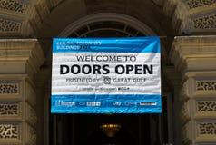 As portas abrem o sinal de Toronto Foto de Stock Royalty Free