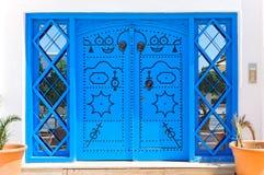 Portas azuis decorativas. Foto de Stock Royalty Free