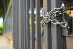 As portas da grade eram fechados Imagem de Stock Royalty Free