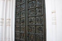As portas de Magdeburg. Novgorod o grande. Rússia. Fotos de Stock