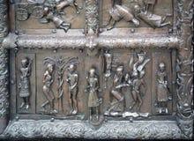 As portas de Magdeburgo - as portas do St Sophia Cathedral em V Imagens de Stock