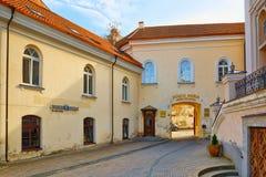 As portas do alvorecer são uma rua na parte histórica da cidade velha o Imagem de Stock Royalty Free