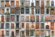 As portas e as portas do vintage ajustaram 1 Imagens de Stock