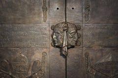 As portas na igreja de Luxemburgo Imagens de Stock