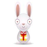 As posses do coelho embalaram o presente Imagens de Stock Royalty Free