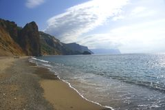 As praias crimeanas. Foto de Stock