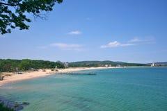 As praias de Primorsko fotografia de stock