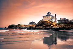 As praias do cabo Ann, Massachusetts imagens de stock