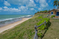 As praias-Pontal brasileiras fazem Coruripe, Alagoas Foto de Stock