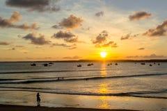 As praias-Pontal brasileiras fazem Coruripe, Alagoas Foto de Stock Royalty Free