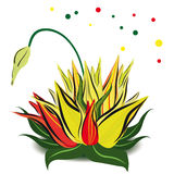 As primeiras flores da mola ilustração royalty free
