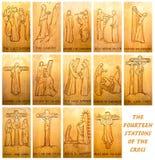 As quatorze estações da cruz foto de stock royalty free