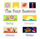 As quatro estações ilustração do vetor