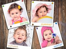 As quatro estações imagens de stock