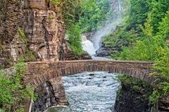 As quedas mais baixas no parque estadual de Letchworth Imagens de Stock Royalty Free