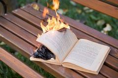 As queimaduras do livro foto de stock royalty free