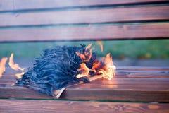 As queimaduras do livro imagem de stock