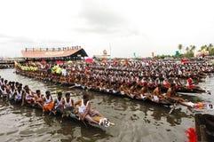 As raças de barco da serpente de Kerala imagem de stock royalty free