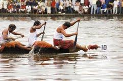As raças de barco da serpente de Kerala foto de stock