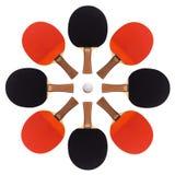 As raquetes de tênis de mesa apresentaram um asterisco Foto de Stock