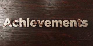 As realizações - título de madeira sujo no bordo - 3D renderam a imagem conservada em estoque livre dos direitos ilustração royalty free