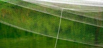 As redes de pesca objetam com a fotografia verde do fundo da água Fotos de Stock
