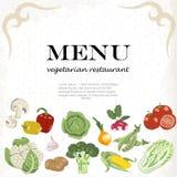 As refeições do vegetariano estão disponíveis Fundo vegetal horizontal ilustração royalty free