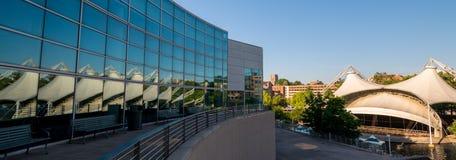 As reflexões múltiplas do pavilhão na feira de mundos estacionam Knoxvil Fotos de Stock Royalty Free