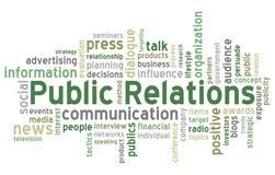 As relações públicas exprimem a nuvem Foto de Stock