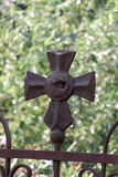 As religious symbol cristian cross. Icon Stock Image