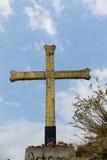As religious symbol cristian. Cross icon Stock Photo