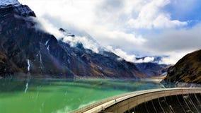 As represas de Kaprun em Zell Am veem, Áustria Imagem de Stock