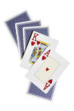 As, rey y tarjetas de la parte posterior Imagenes de archivo