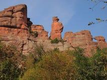 As rochas de Belogradchik & o x28; Bulgaria& x29; Fotos de Stock