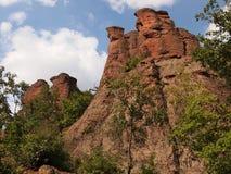 As rochas de Belogradchik & o x28; Bulgaria& x29; Fotos de Stock Royalty Free