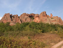 As rochas de Belogradchik & o x28; Bulgaria& x29; Fotografia de Stock Royalty Free