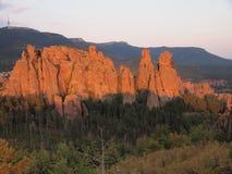 As rochas de Belogradchik & o x28; Bulgaria& x29; Imagens de Stock