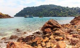 As rochas na praia Fotos de Stock Royalty Free