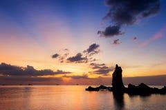 As rochas na praia Imagem de Stock