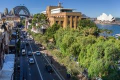 As rochas no cais circular em Sydney foto de stock