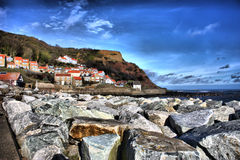 As rochas no runswick latem, o North Yorkshire, Reino Unido Imagens de Stock Royalty Free