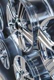As rodas da liga do carro fecham-se acima Fotografia de Stock Royalty Free