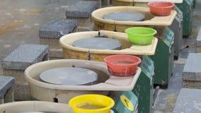 As rodas de oleiro elétricas fotografia de stock
