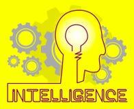 As rodas denteadas da inteligência representam a capacidade e o talento intelectuais ilustração stock