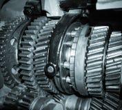 As rodas do metal da engrenagem fecham-se acima Imagem de Stock