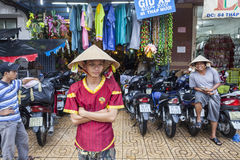AS Roma soccer club fan in Vietnam Stock Photo