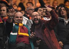 AS Roma supporters fans Stock Photos