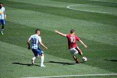 Francesco Totti kick a ball during a match. AS ROMA VS PESCARA (1:1) FOOTBALL GAME Royalty Free Stock Image