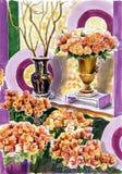 As rosas em um vaso ilustração royalty free